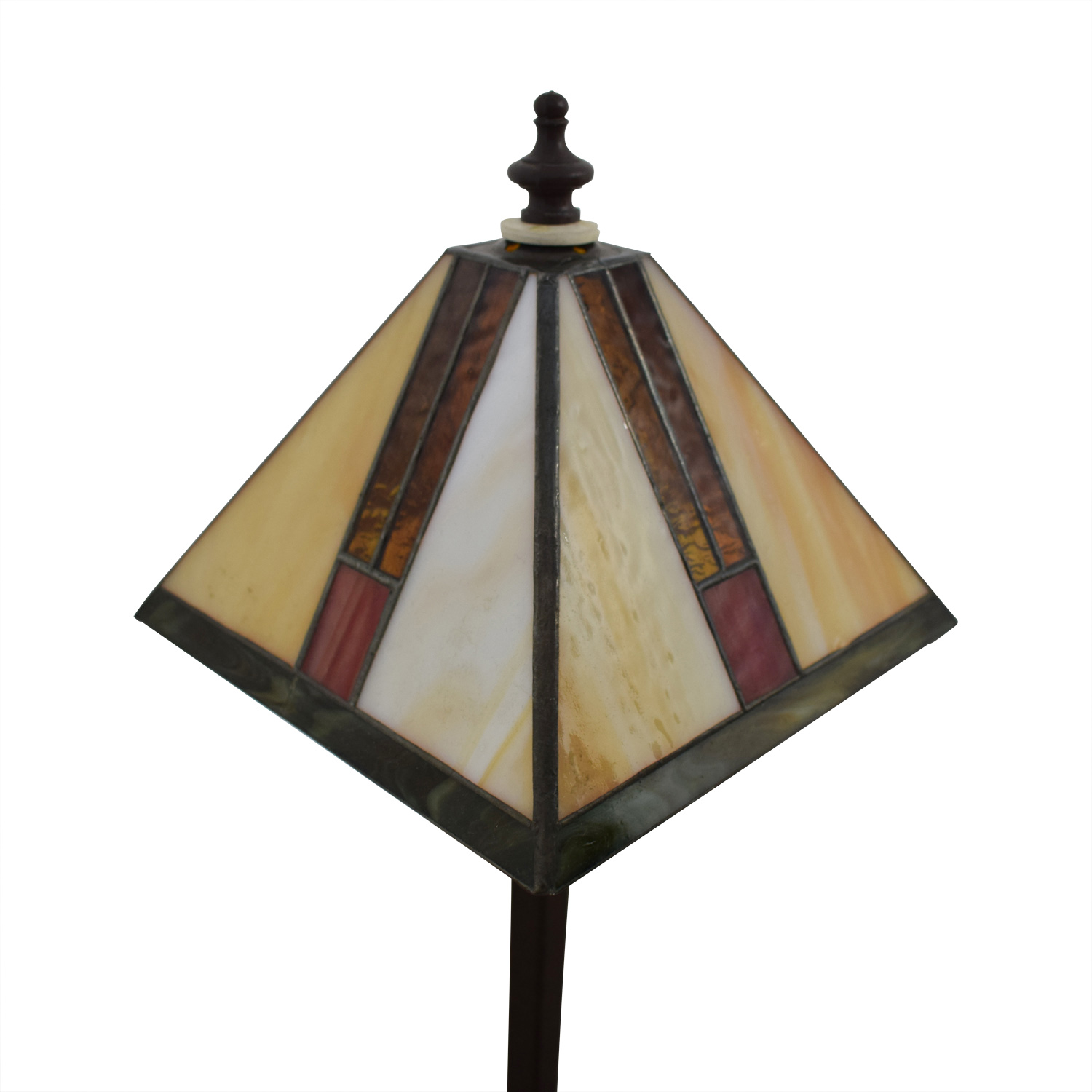 rosalee base lamps gold lamp sweet ceramic hand and stained table color burgundy bouquet furniture glass red shades