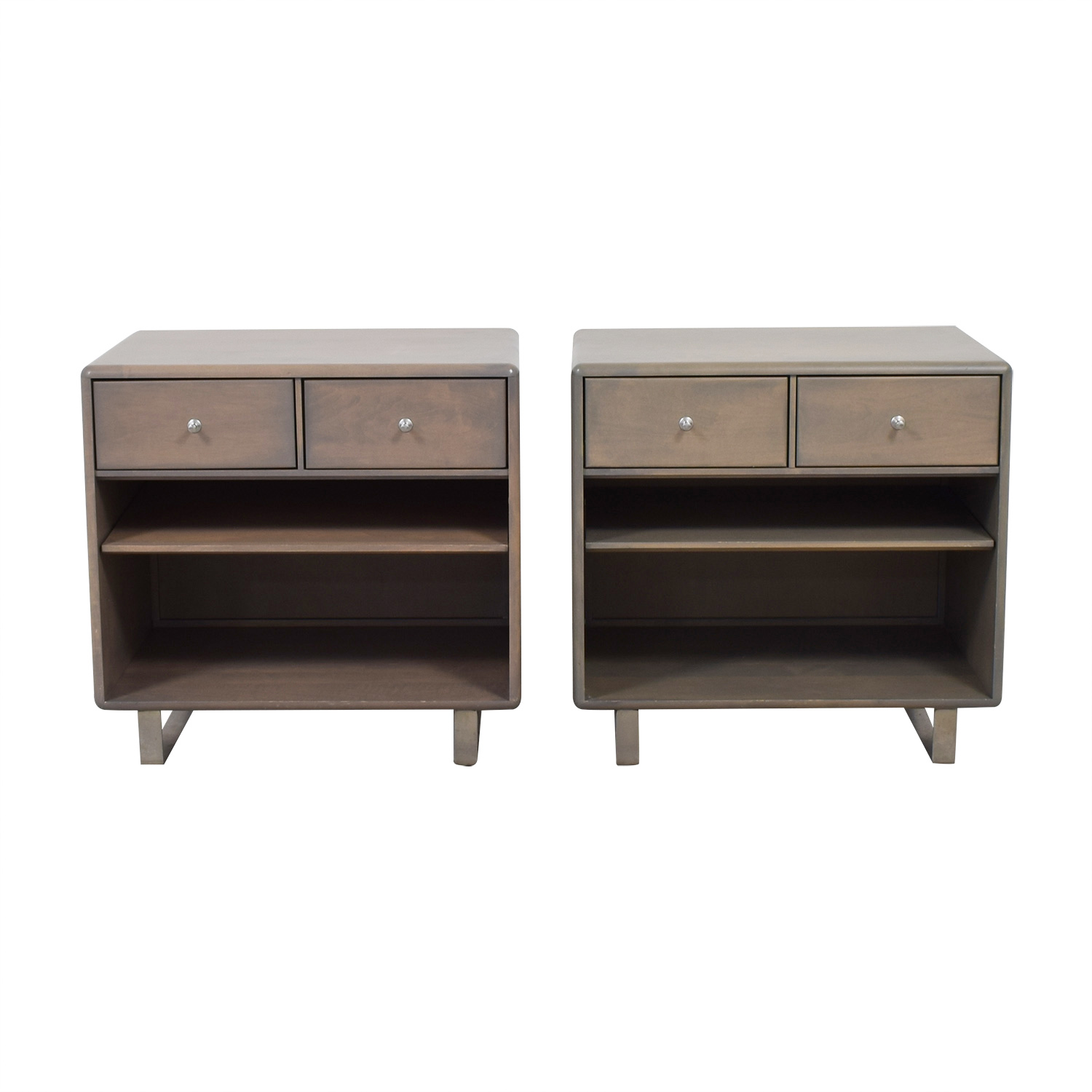 Room & Board Room & Board Whitney Two-Drawer Nightstands second hand