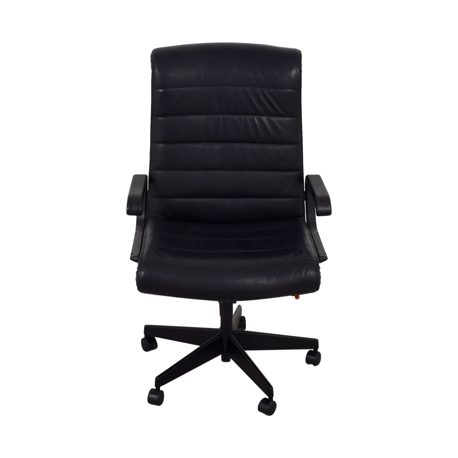 88 Off Black Leather Office Chair Chairs