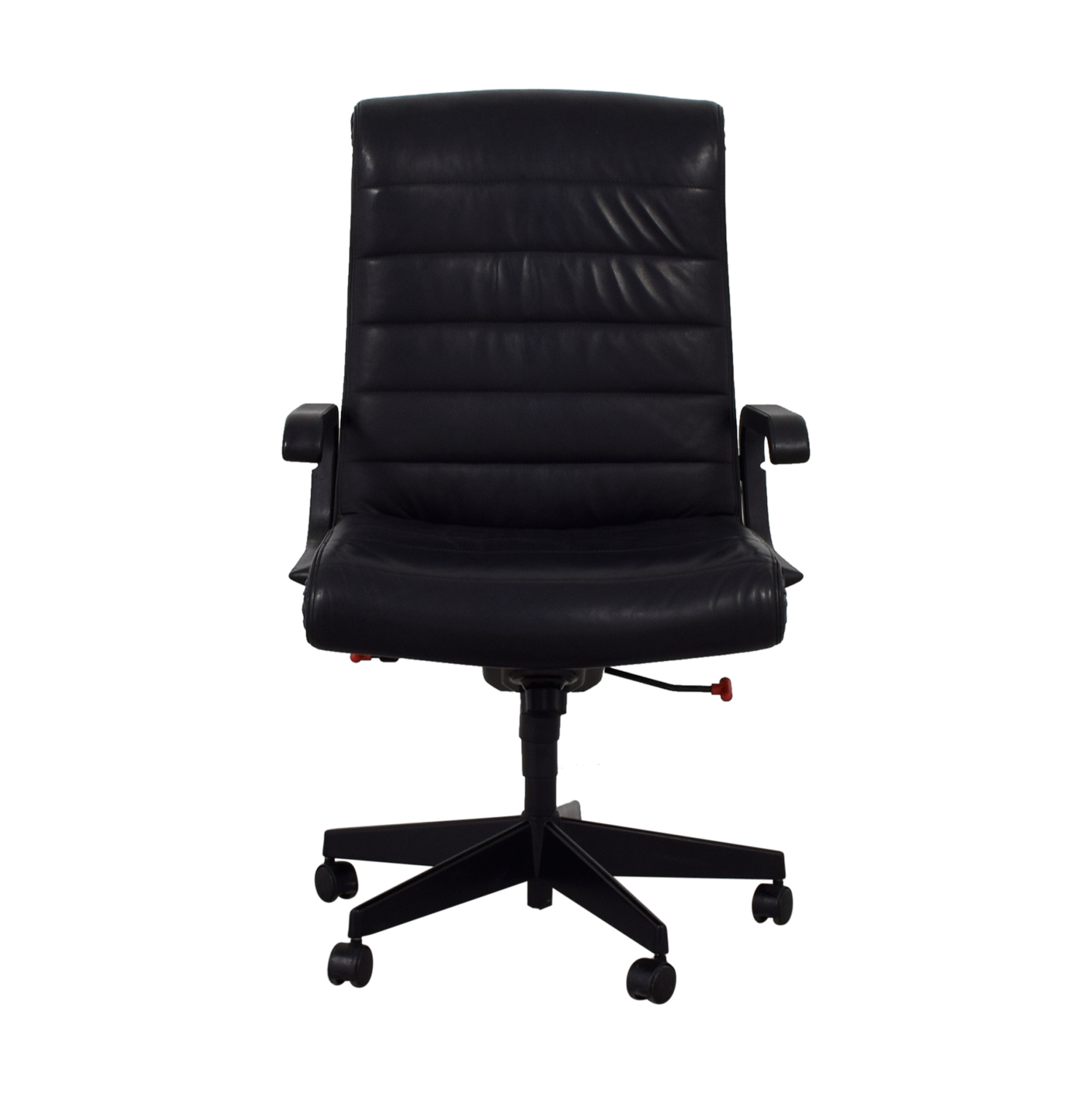 Black Leather Office Chair BLACK