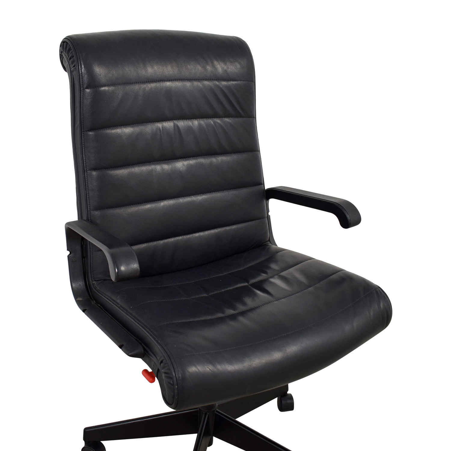 88 off black leather office chair chairs. Black Bedroom Furniture Sets. Home Design Ideas