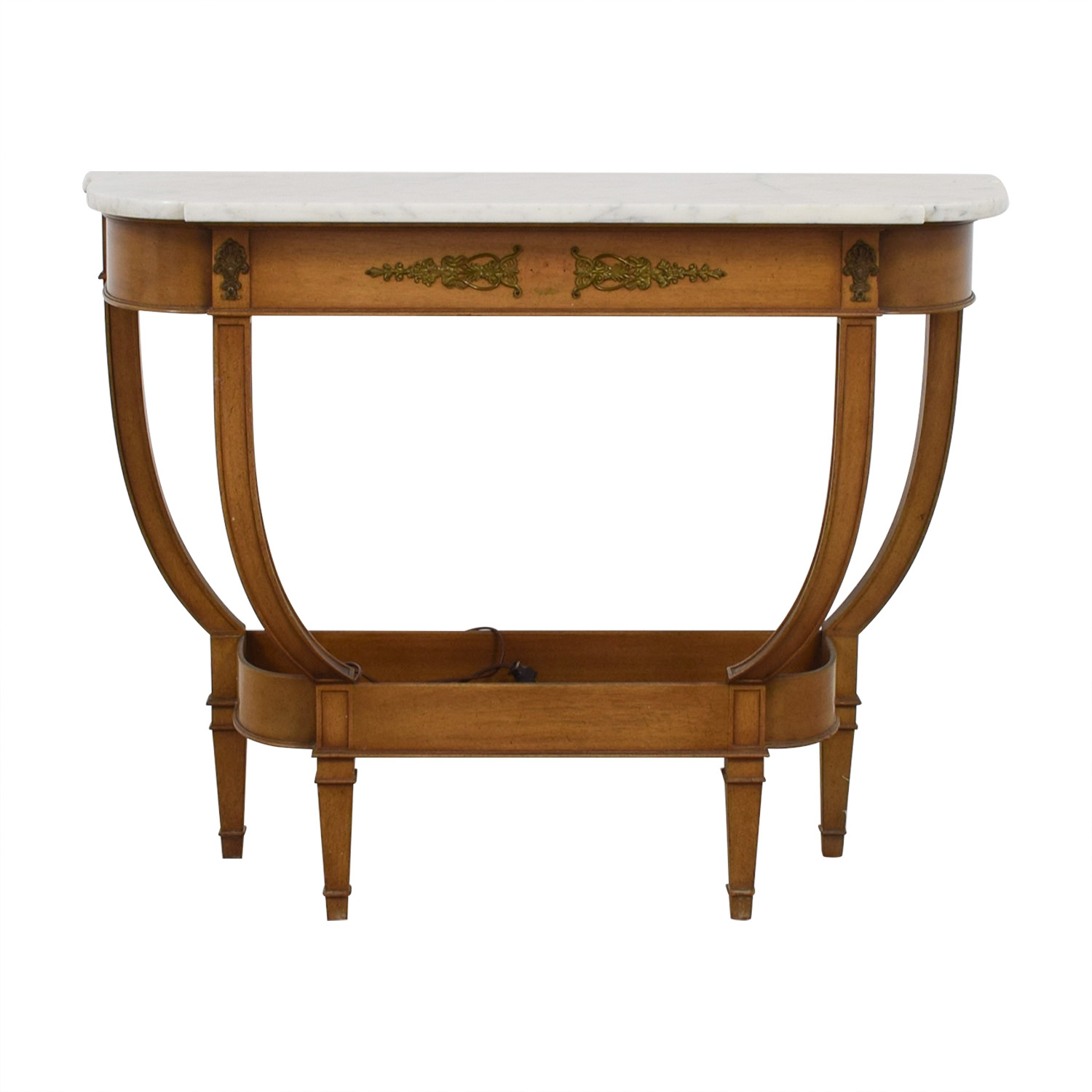 buy  White Marble Wood Base Side Table online