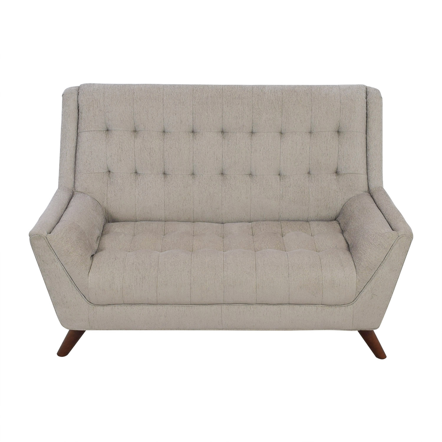 curved loveseats sofa size and of contemporary grey full briarwood tufted microfiber loveseat sofas