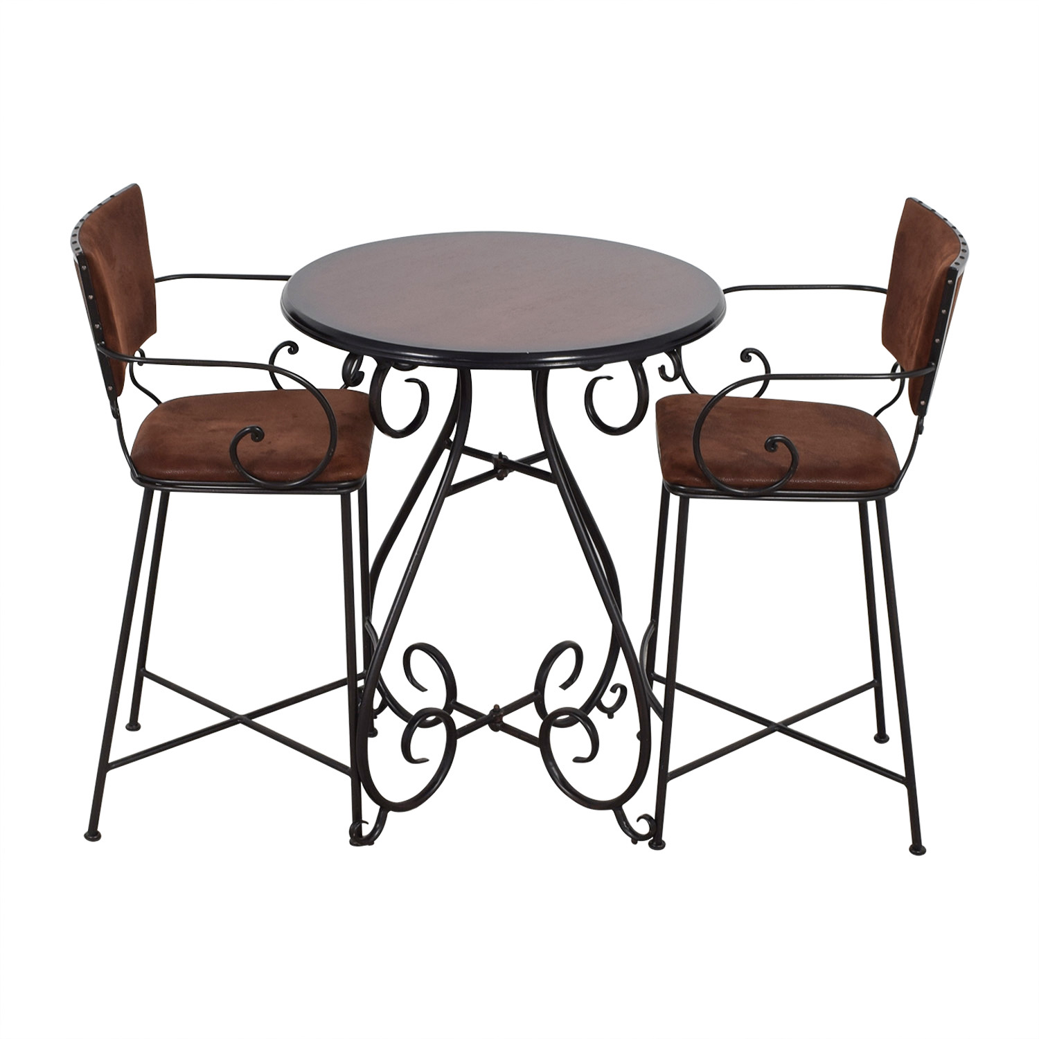 Pier 1 Imports Pier 1 Imports Chesington Tuscan Brown Bar Table with Chairs discount