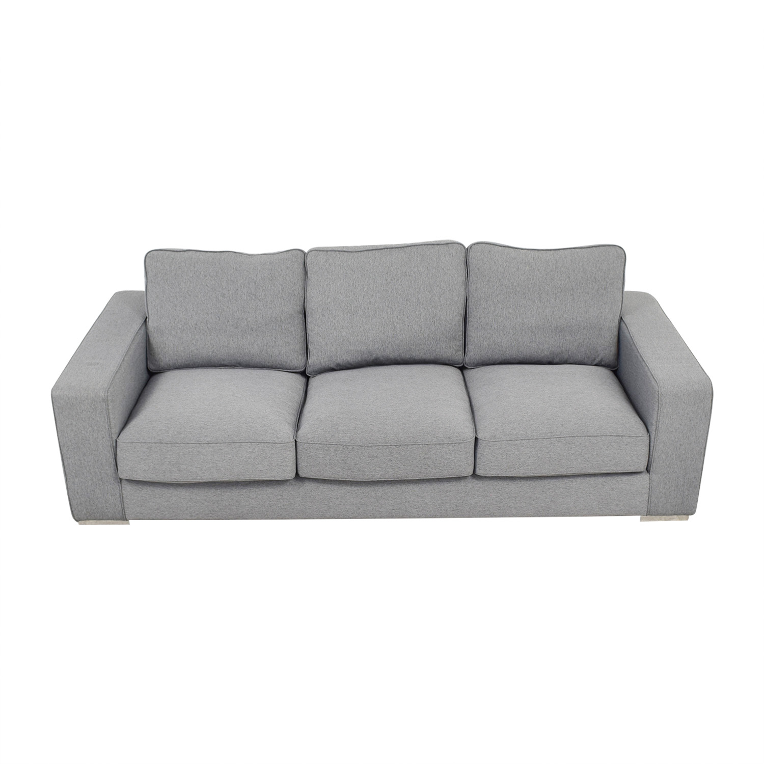 Interior Define Ainsley Grey Three-Cushion Sofa Interior Define