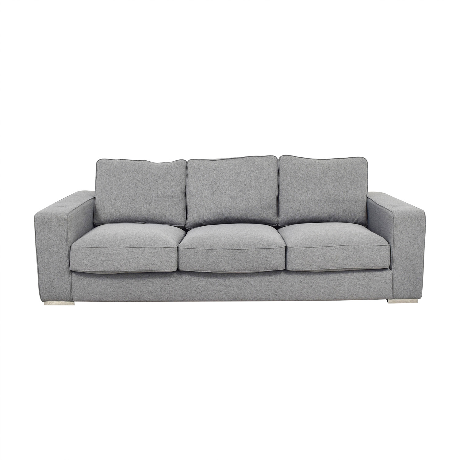 Interior Define Ainsley Grey Three-Cushion Sofa / Classic Sofas