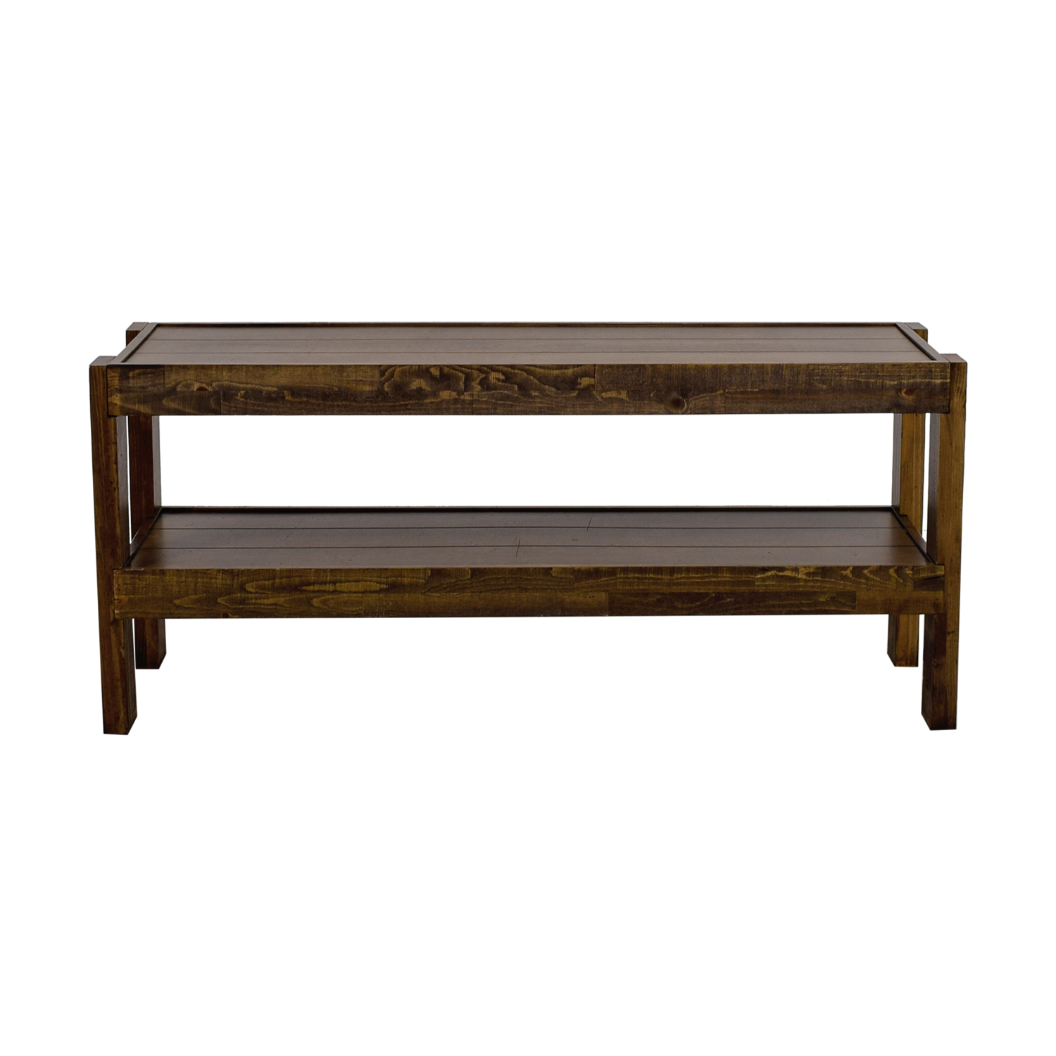 shop Woodwaves Rustic Reclaimed Barn Wood TV Stand Woodwaves Storage