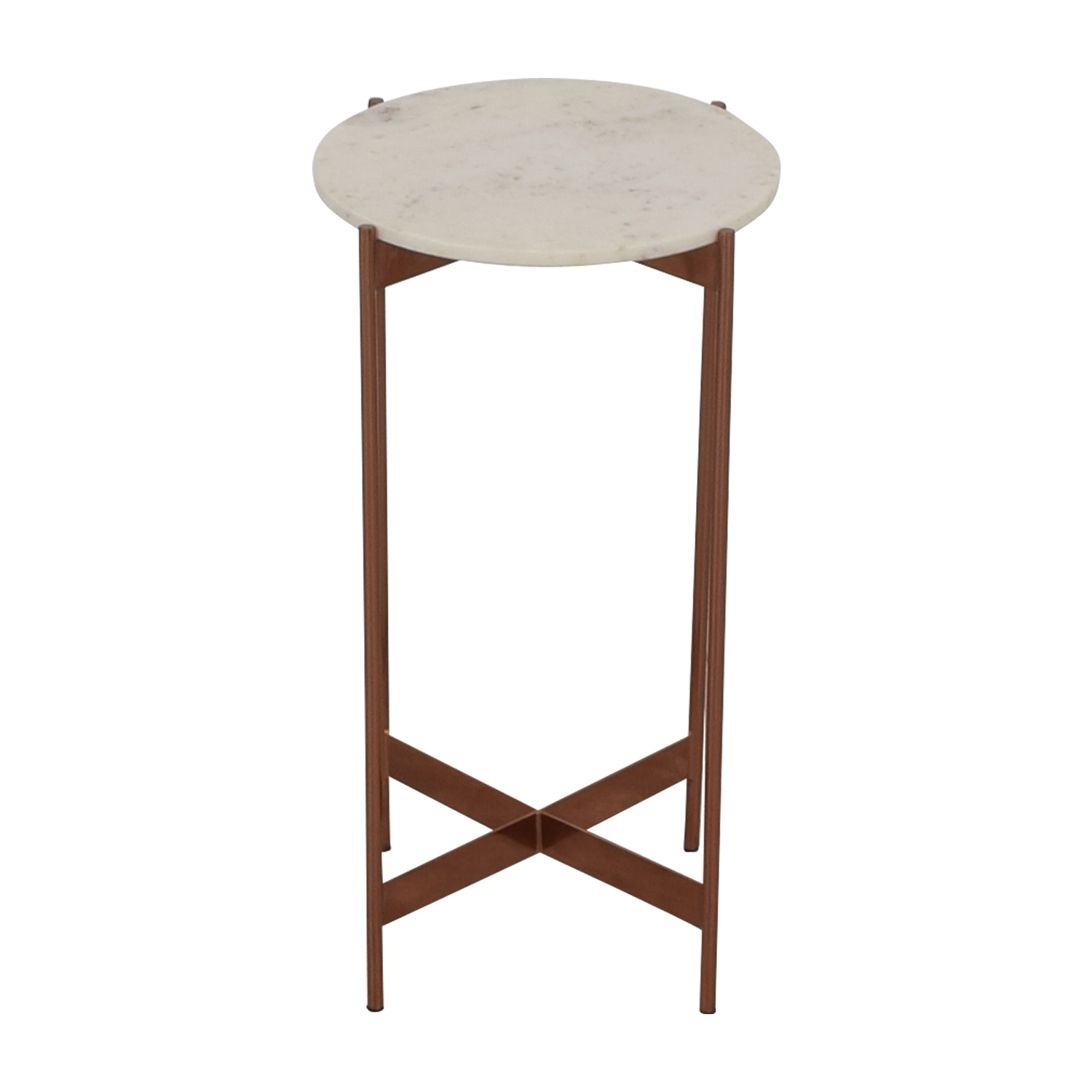 CB2 CB2 Marble Pedestal Table on sale