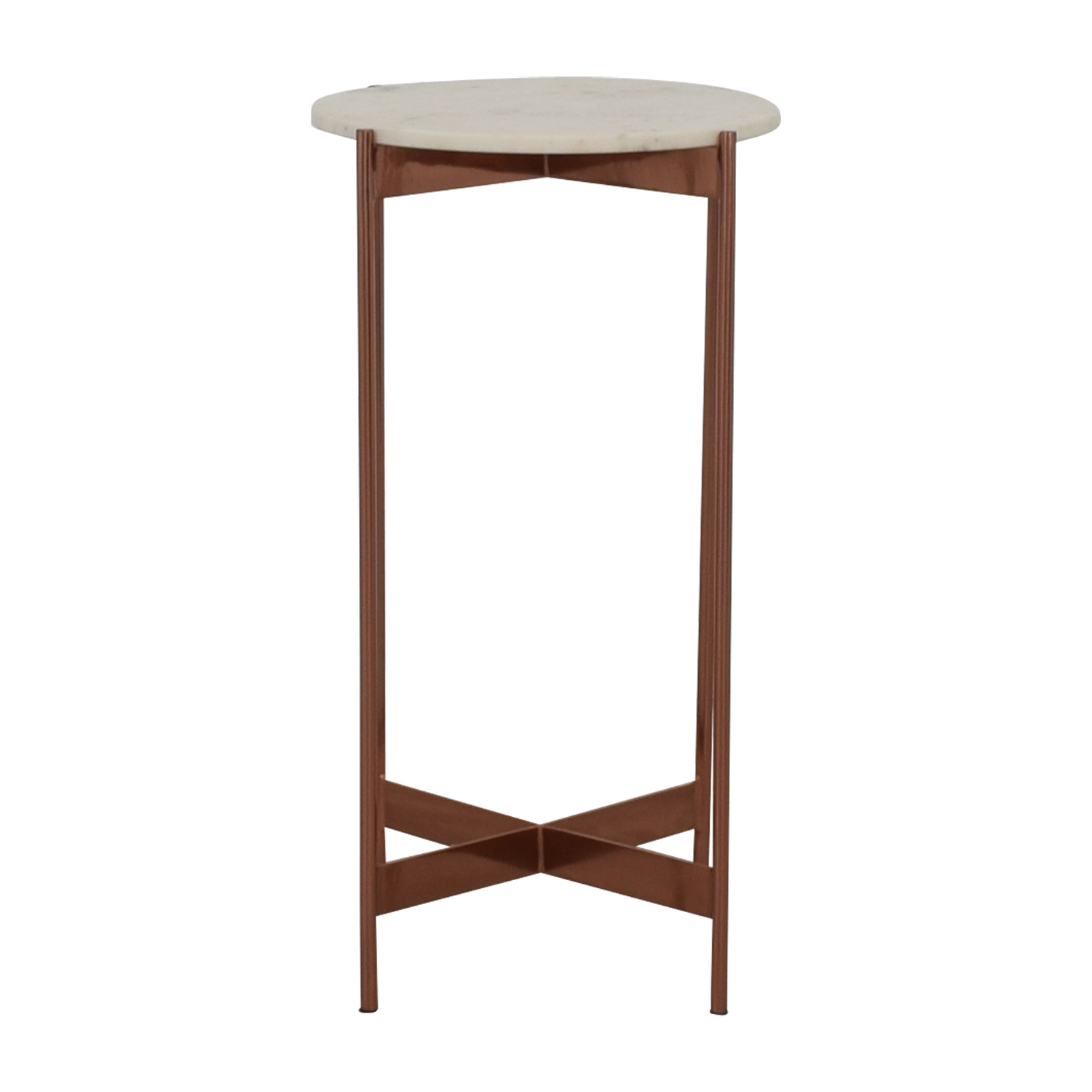 CB2 Marble Pedestal Table / Decorative Accents