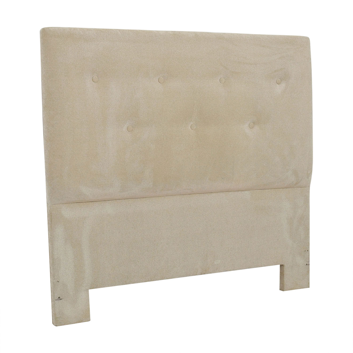 Beige Tufted Queen Headboard Beds