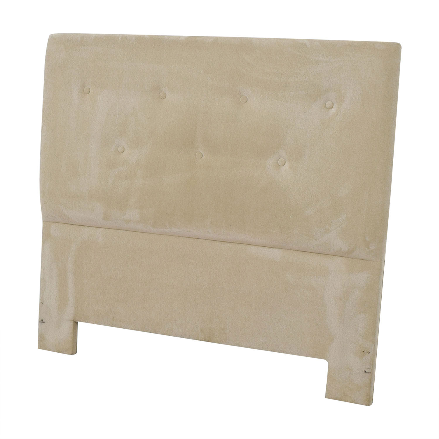 Beige Tufted Queen Headboard dimensions