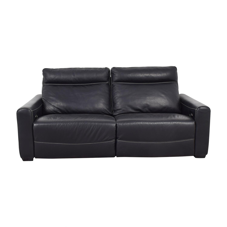 Macy's Black Leather Power Recliner Sofa Macy's