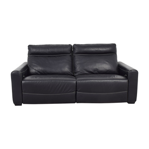 buy Macy's Black Leather Power Recliner Sofa Macy's