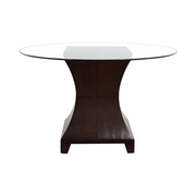 buy  Round Wooden Glass Dining Table online