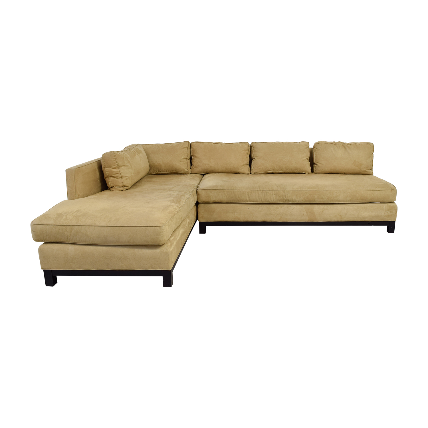 shop Mitchell Gold + Bob Williams Clifton Beige Chaise Sectional Mitchell Gold + Bob Williams