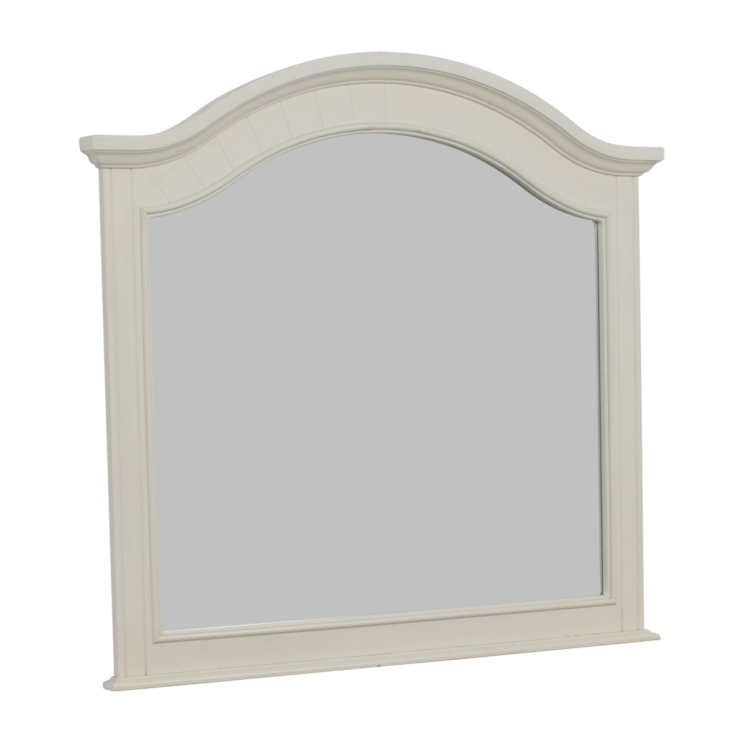 White Framed Wooden Mirror sale