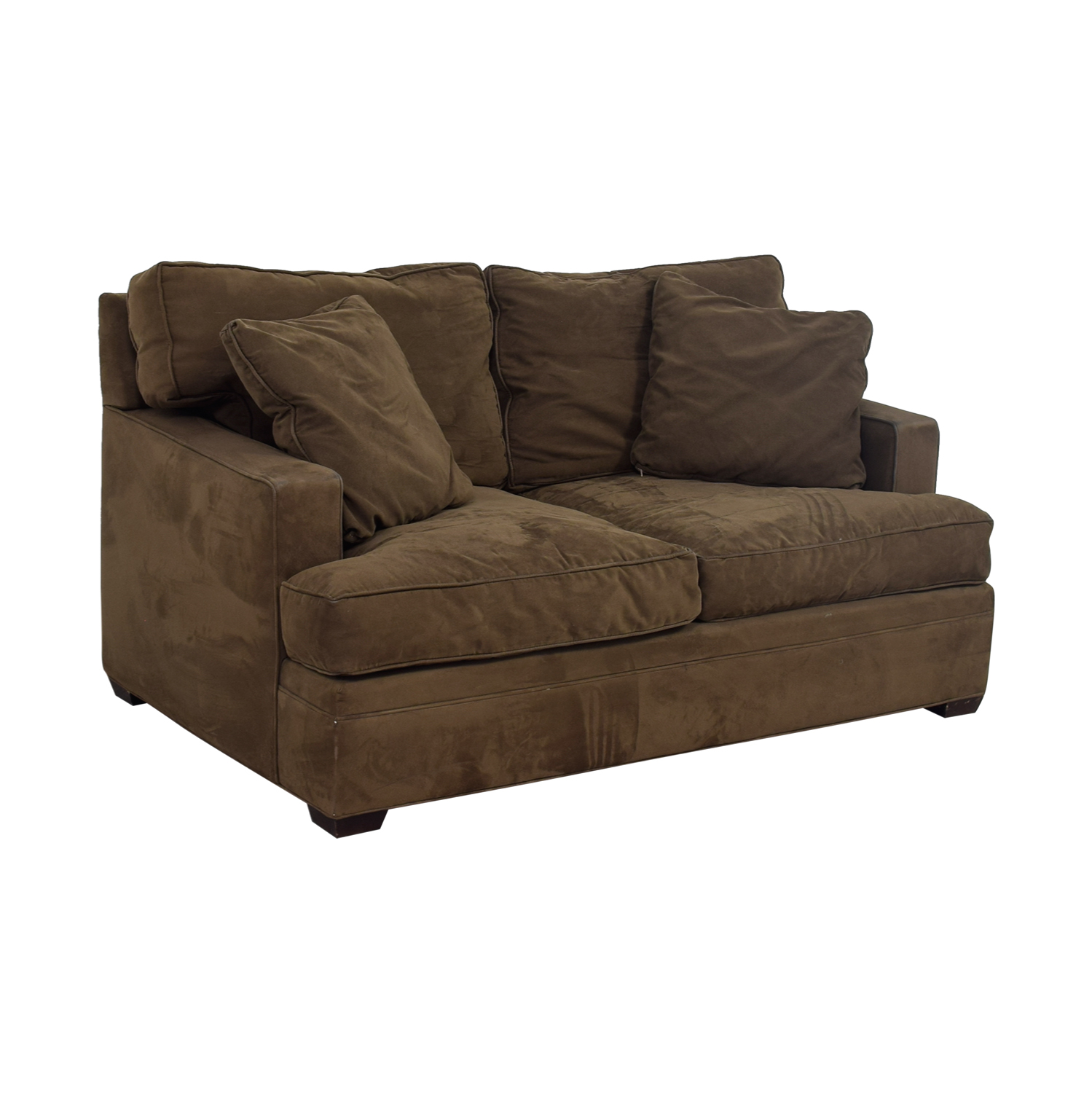 57 Off Crate Barrel Crate Barrel Brown Two Cushion
