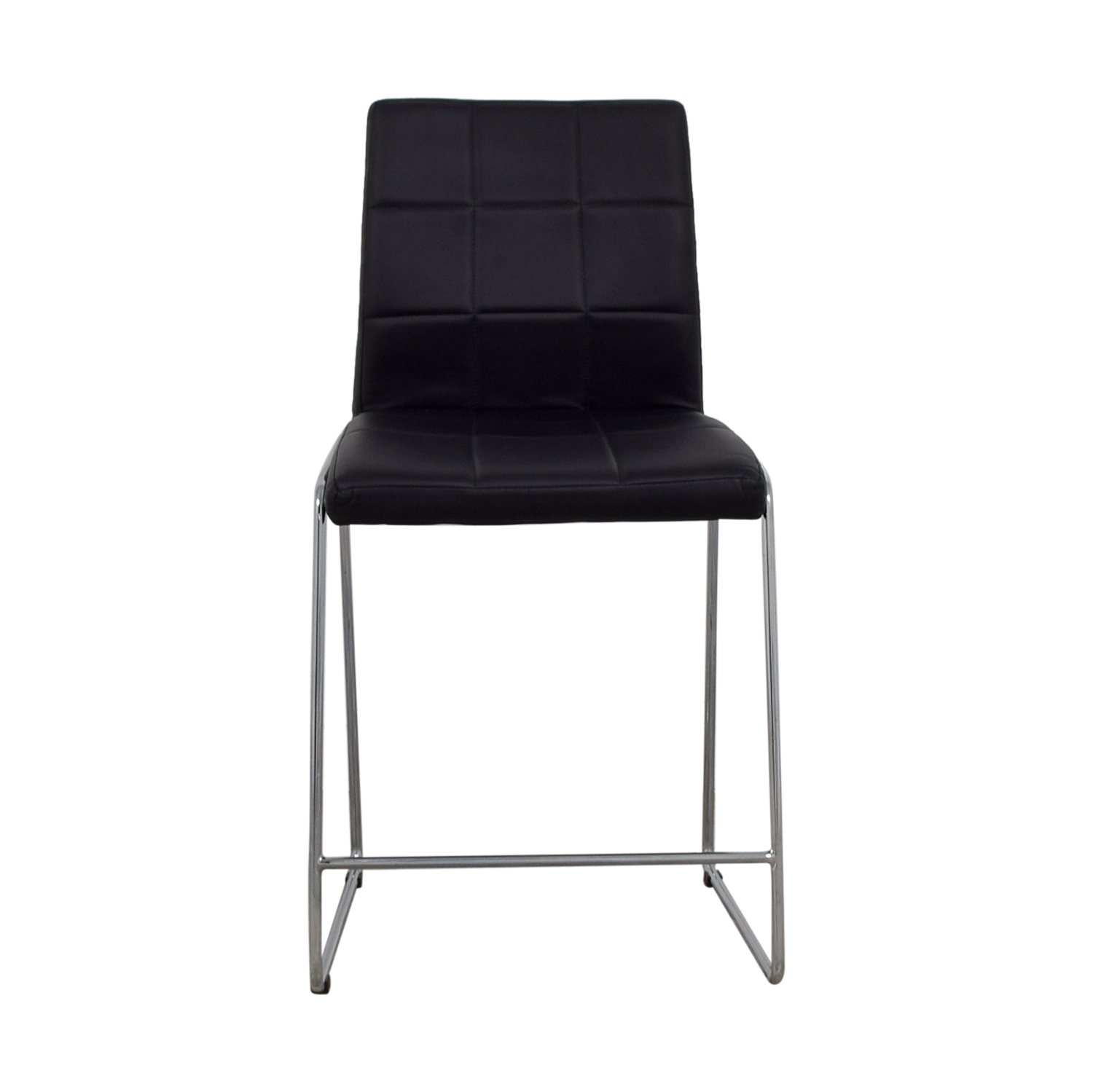 Black Leatherette Bar Stool
