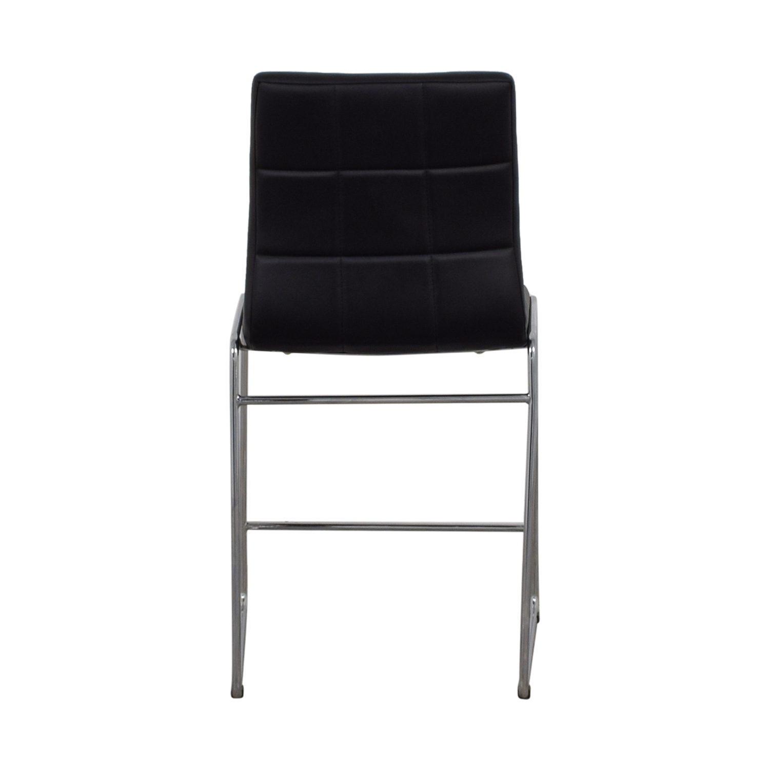 Black Leatherette Bar Stool on sale