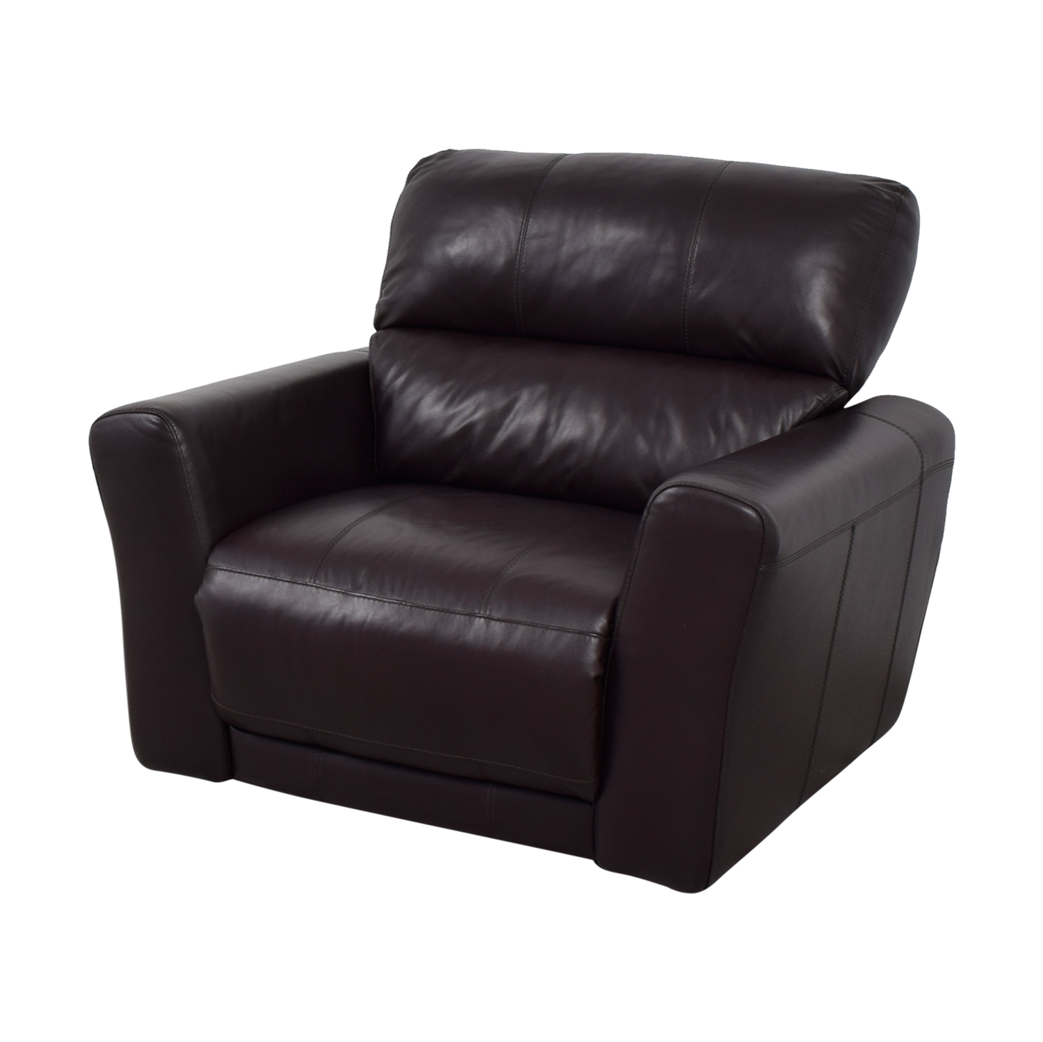 90 Off Macy S Macy S Chocolate Leather Recliner Chairs