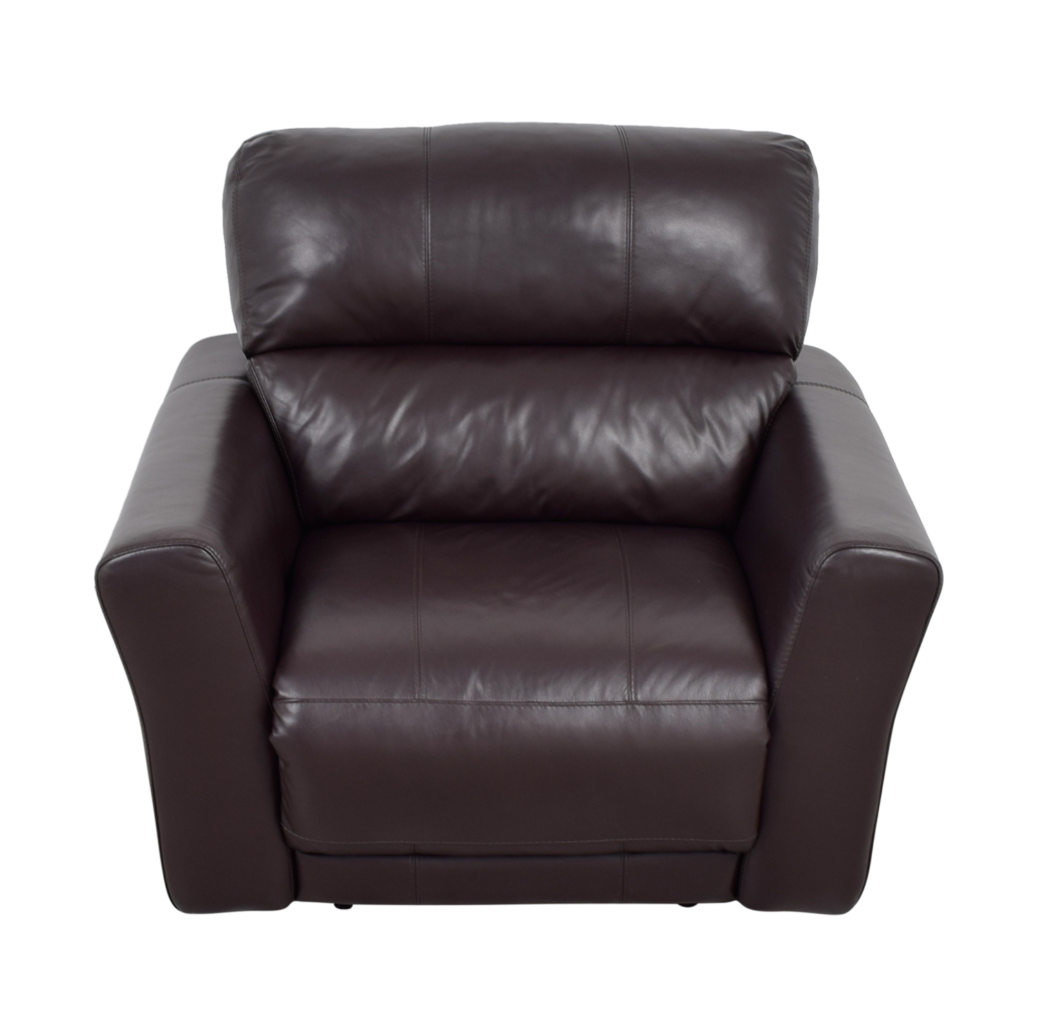 buy Macy's Chocolate Leather Recliner Macy's Chairs