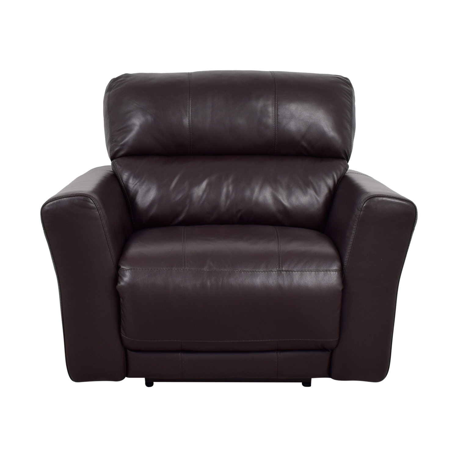 Macy's Macy's Chocolate Leather Recliner for sale