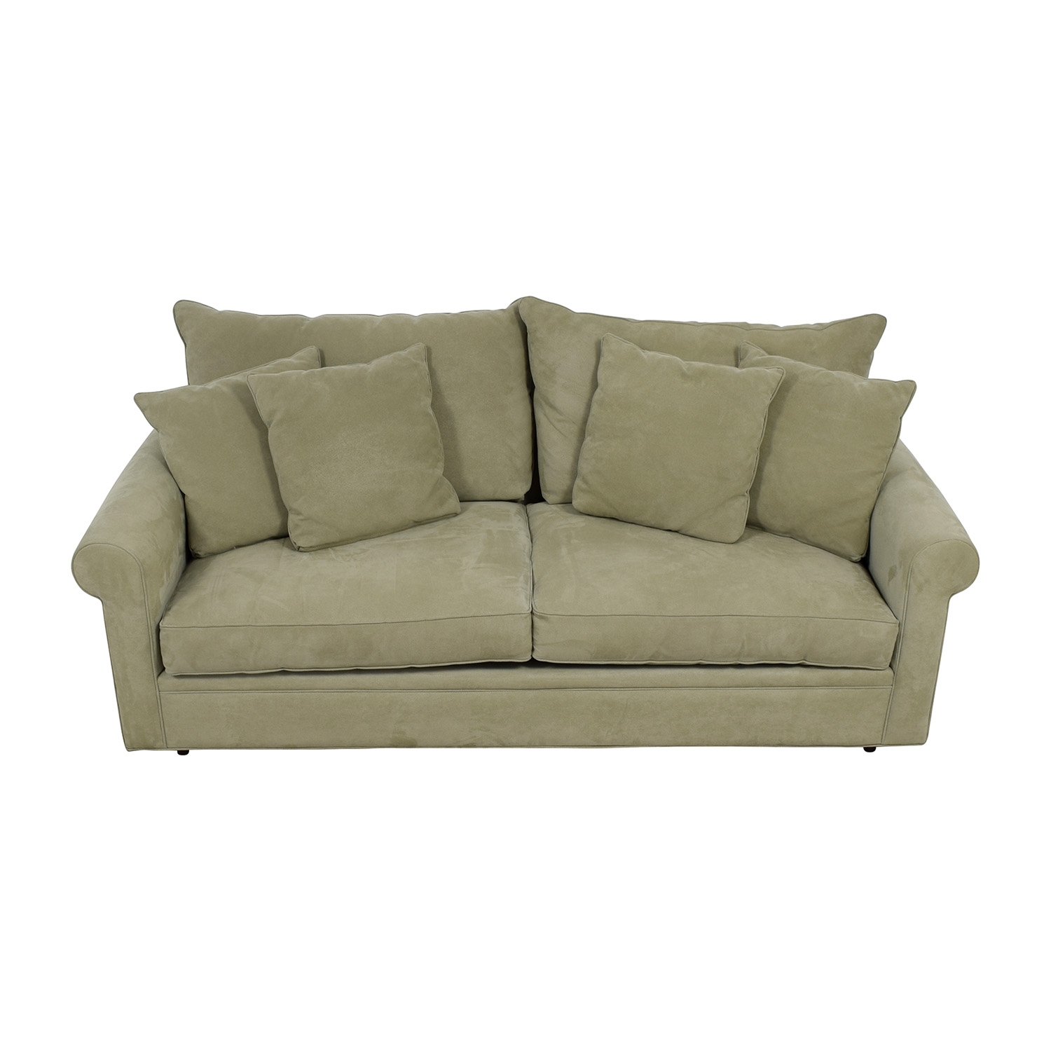 Macy's Sage Green Two-Cushion Sofa sale