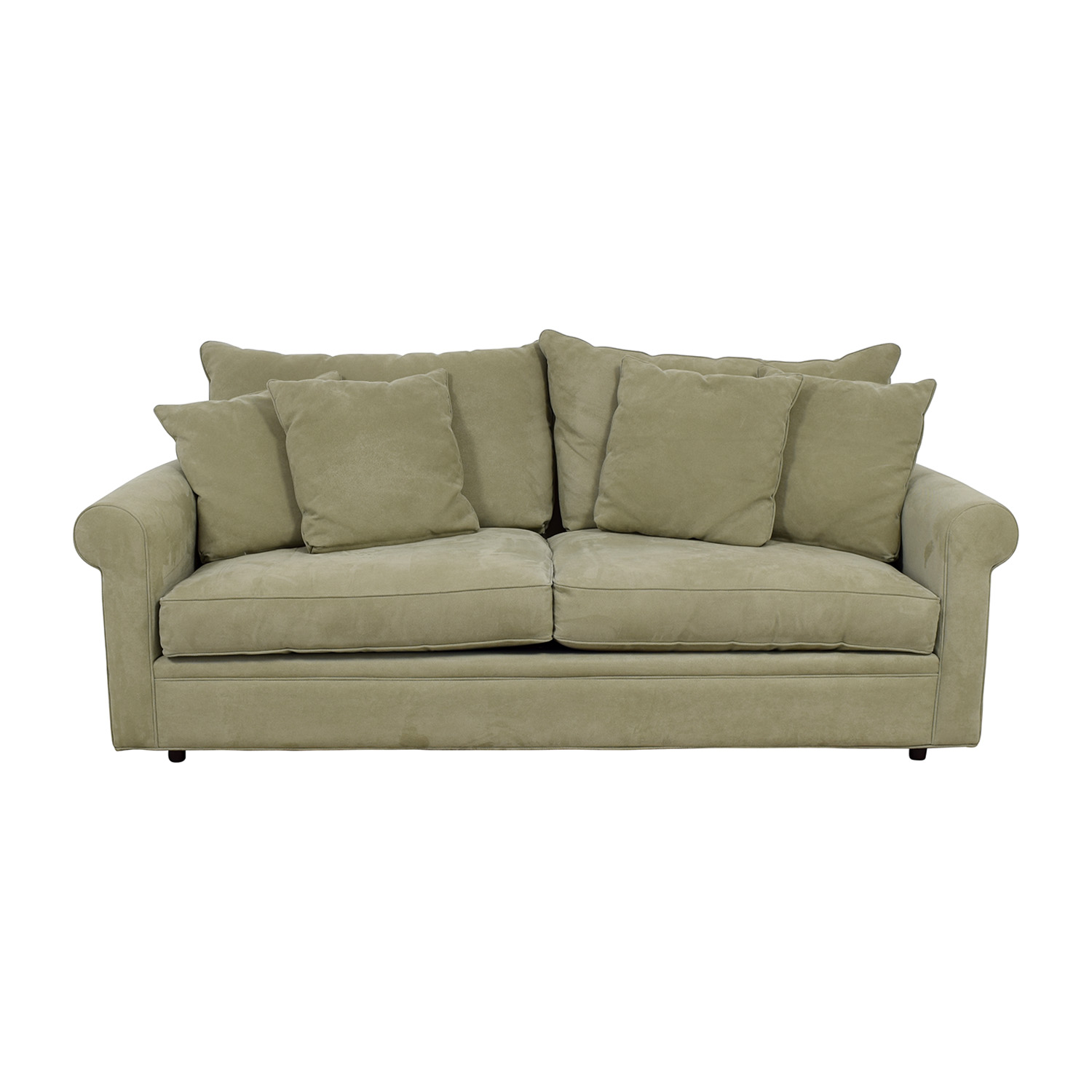 Macy's Macy's Sage Green Two-Cushion Sofa Sofas