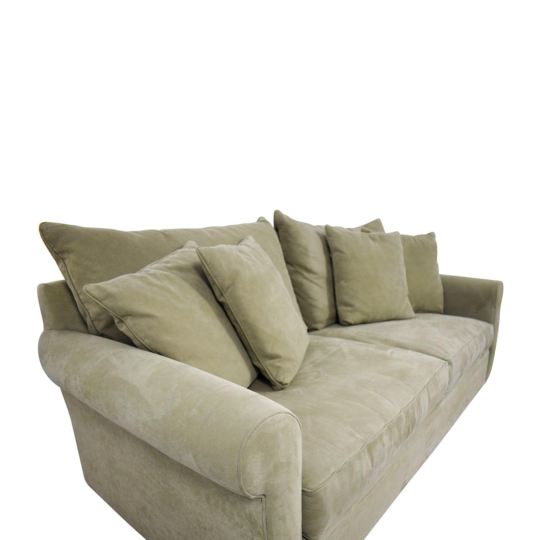 85 Off Macy S Macy S Sage Green Two Cushion Sofa Sofas