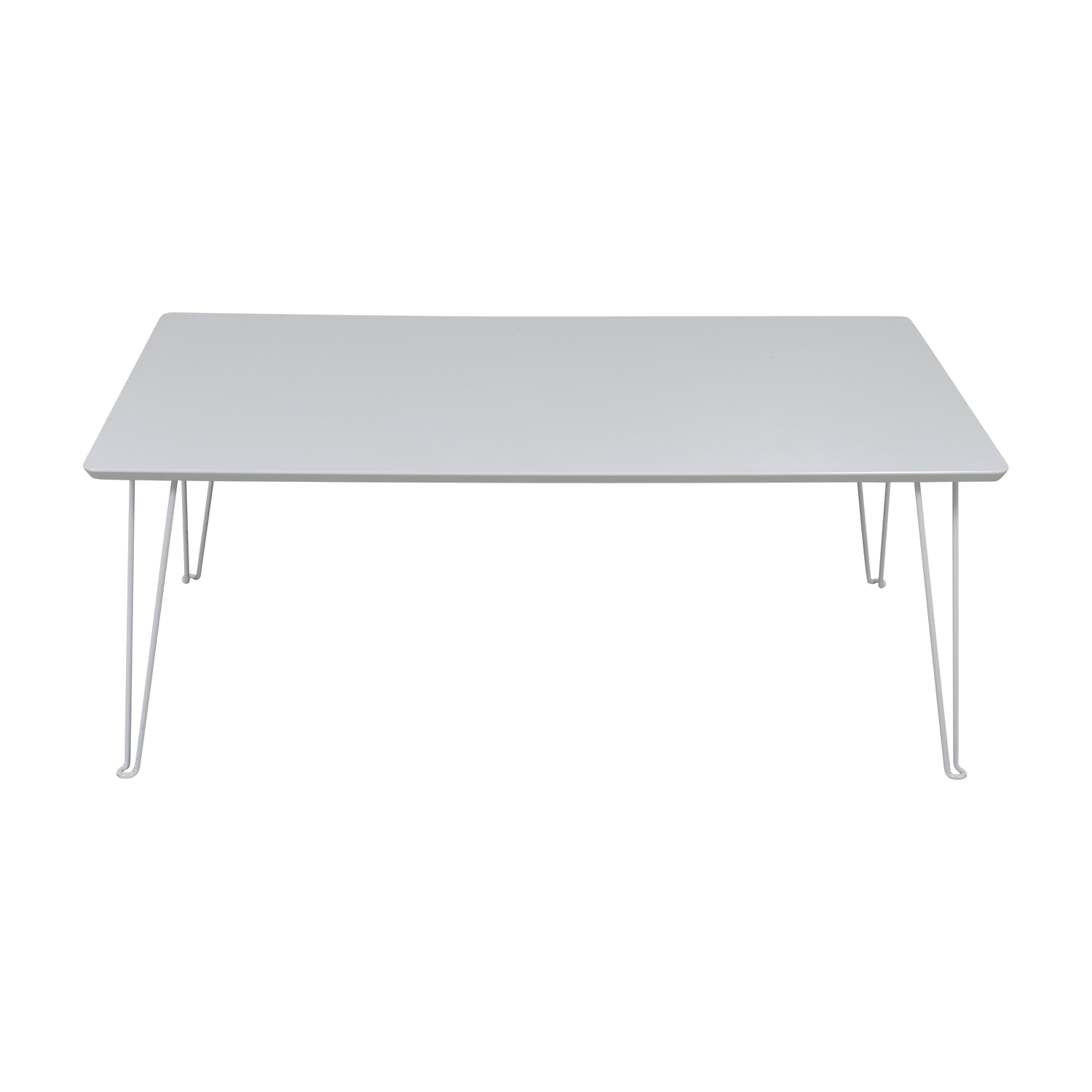 shop CB2 Bobby White Dining Table CB2 Dinner Tables