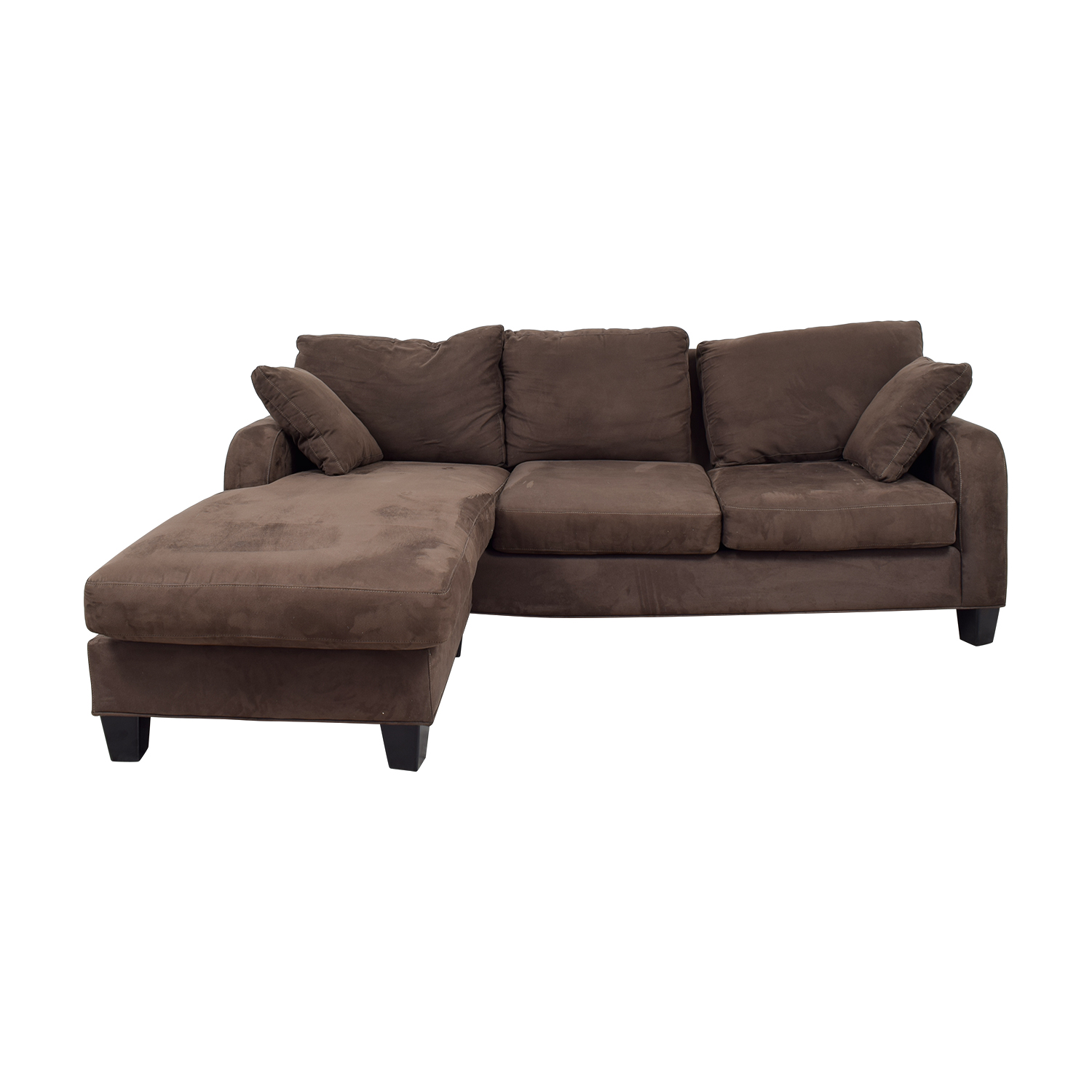 Cindy Crawford Brown Chaise Sectional / Sofas