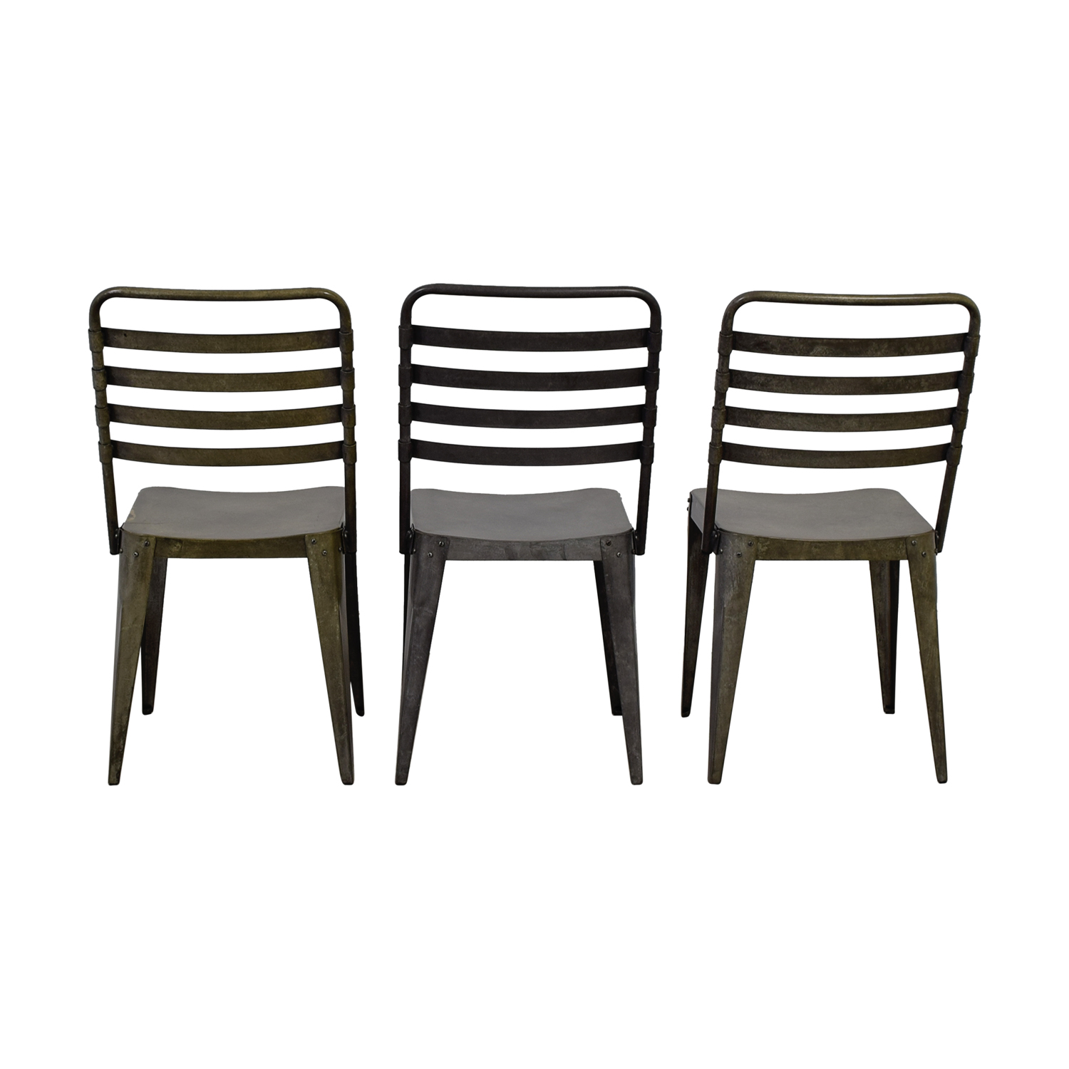 CB2 CB2 Metropolitan Distressed Metal Chairs discount