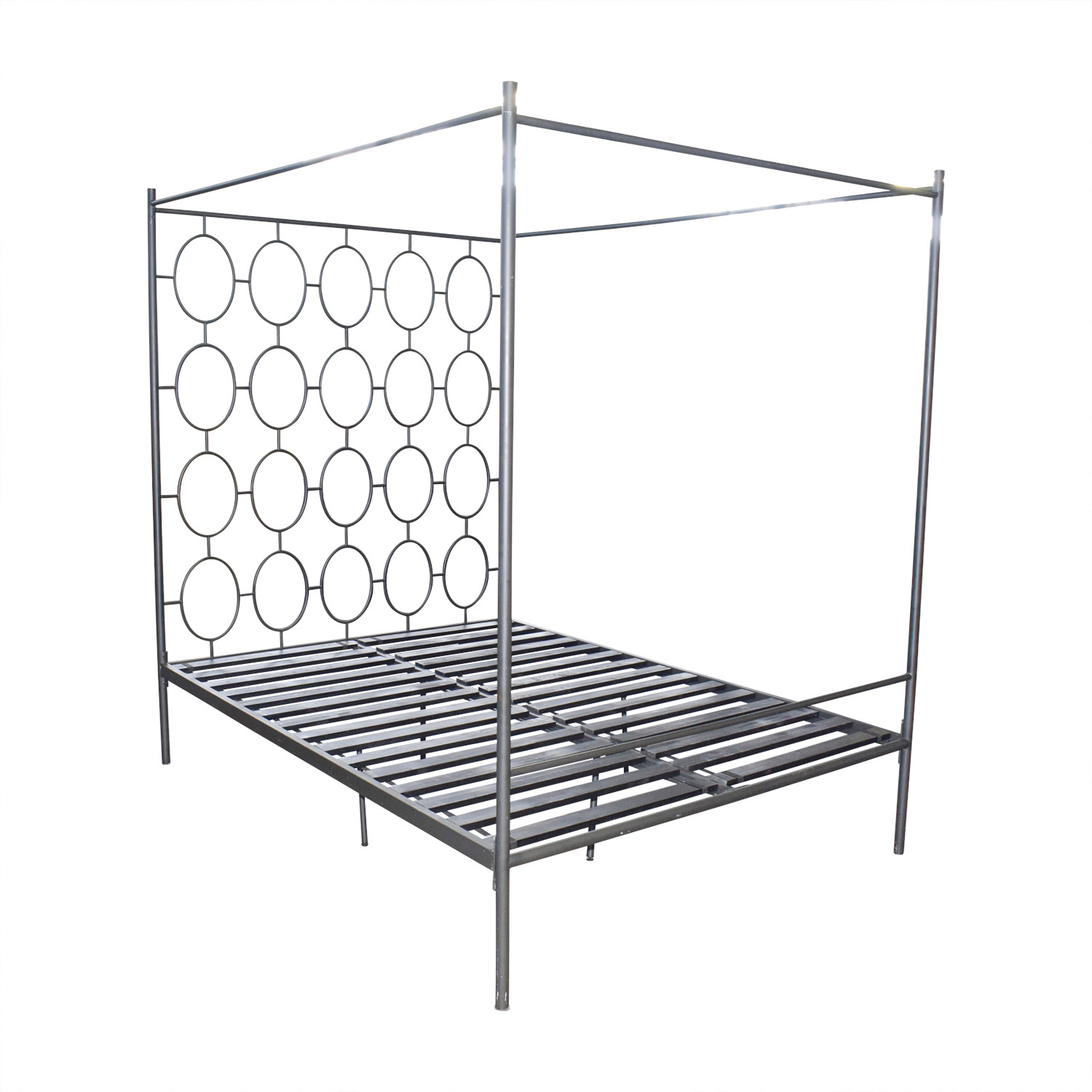 West Elm Geographic Canopy Queen Bed Frame / Beds