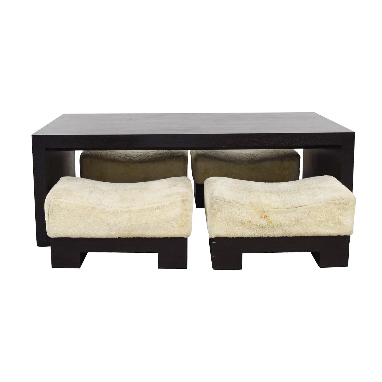 Custom Modern Low Profile Dining Room Set nj