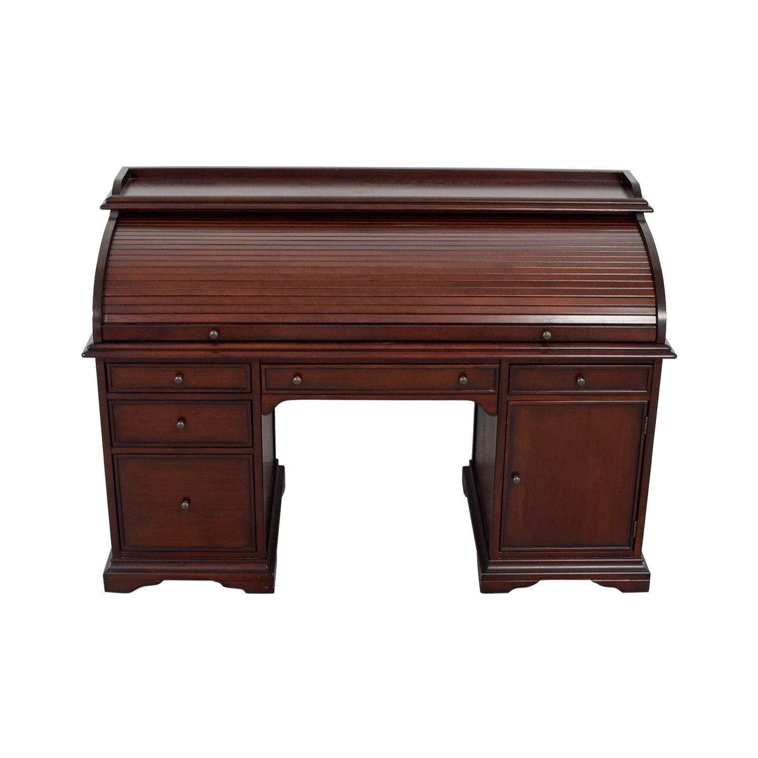 82 Off Pottery Barn Pottery Barn Wood Roll Top Desk