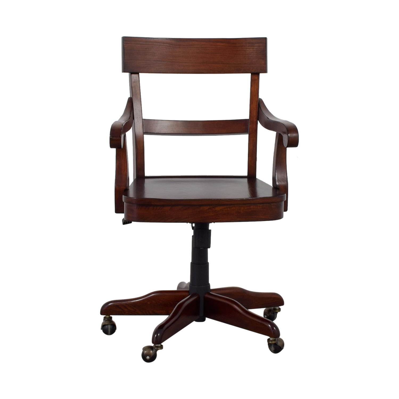 Pottery Barn Swivel Chair: Pottery Barn Pottery Barn Swivel Wood Desk Chair