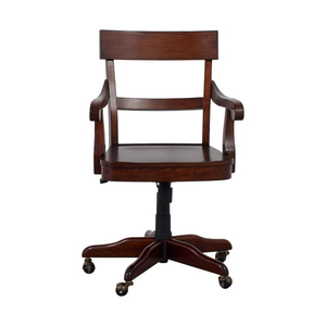 Pottery Barn Pottery Barn Swivel Wood Desk Chair for sale