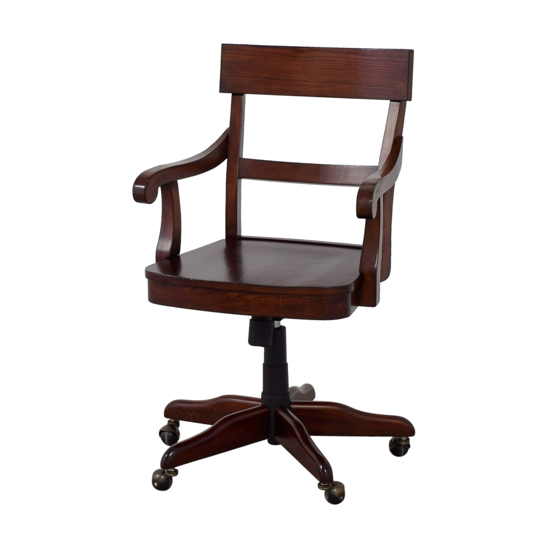 Pottery Barn Furniture Chairs: Pottery Barn Pottery Barn Swivel Wood Desk Chair