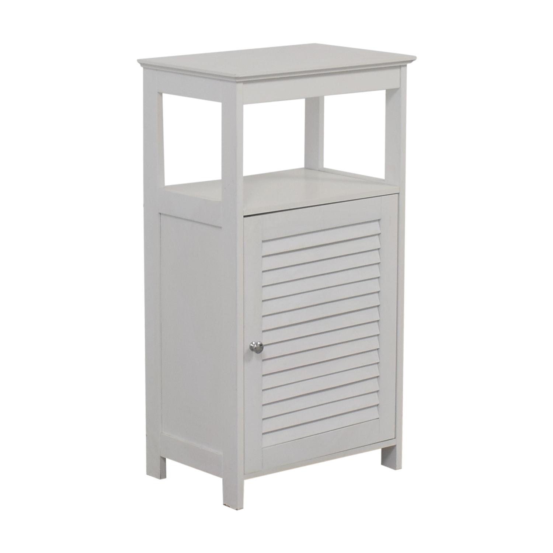 shop White Bathroom Cabinet  Bookcases & Shelving