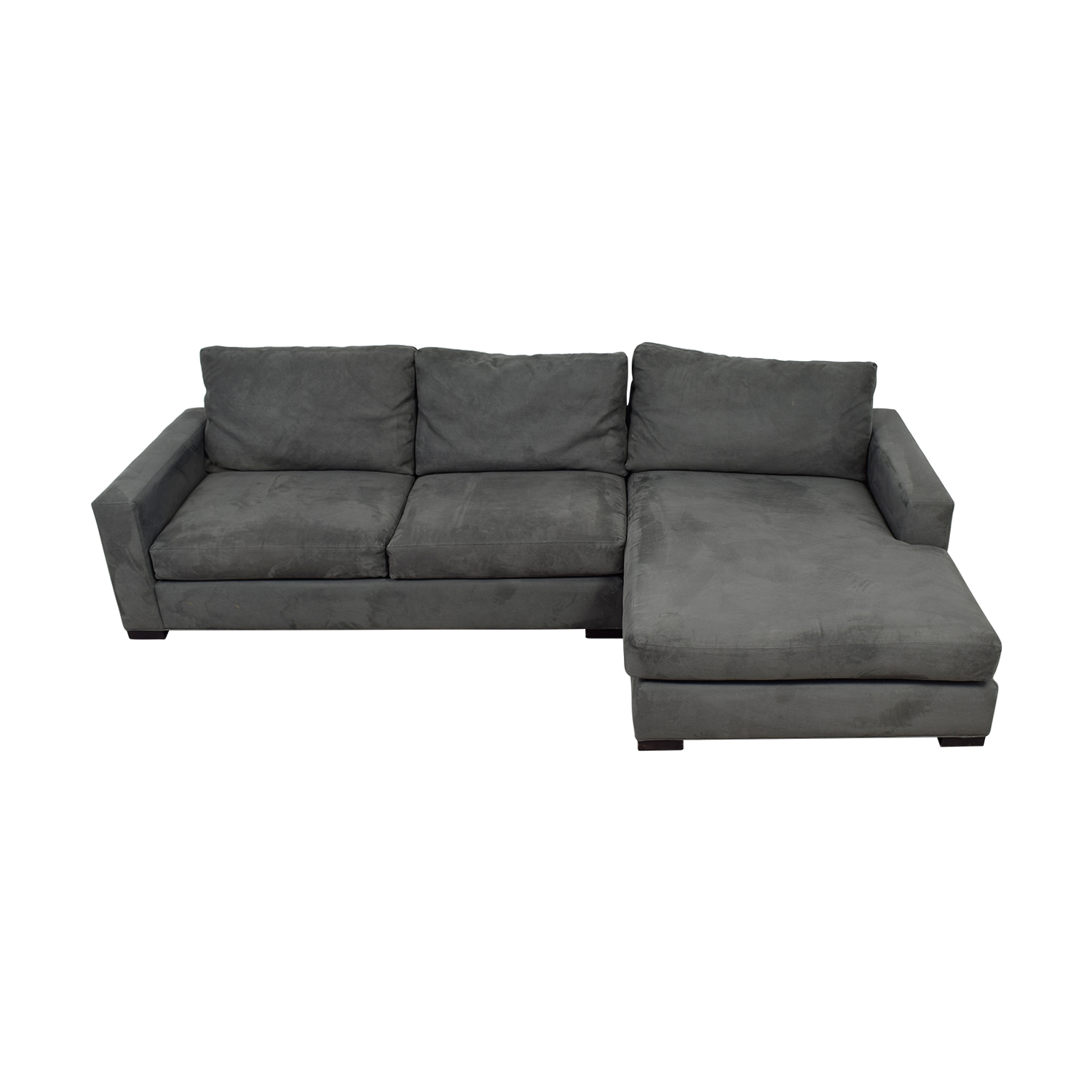 shop Room & Board Stone Grey Sectional Room & Board Sofas