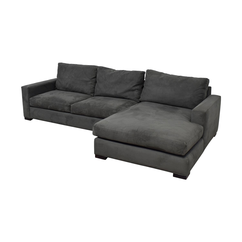 75 off room board room board stone grey sectional. Black Bedroom Furniture Sets. Home Design Ideas