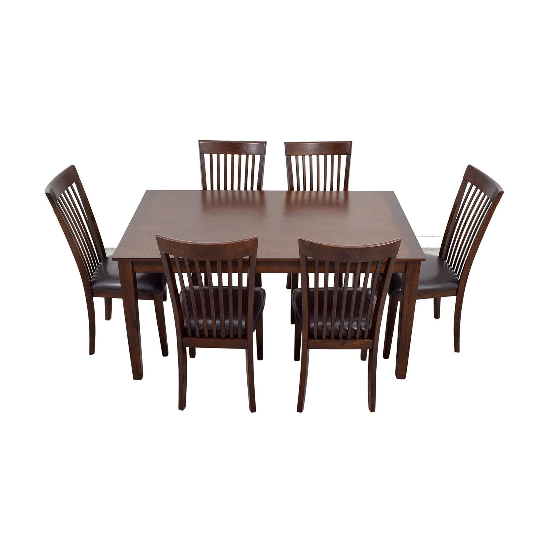 Ashley Furniture Ashley Furniture Mallenton Wood Dining Set for sale