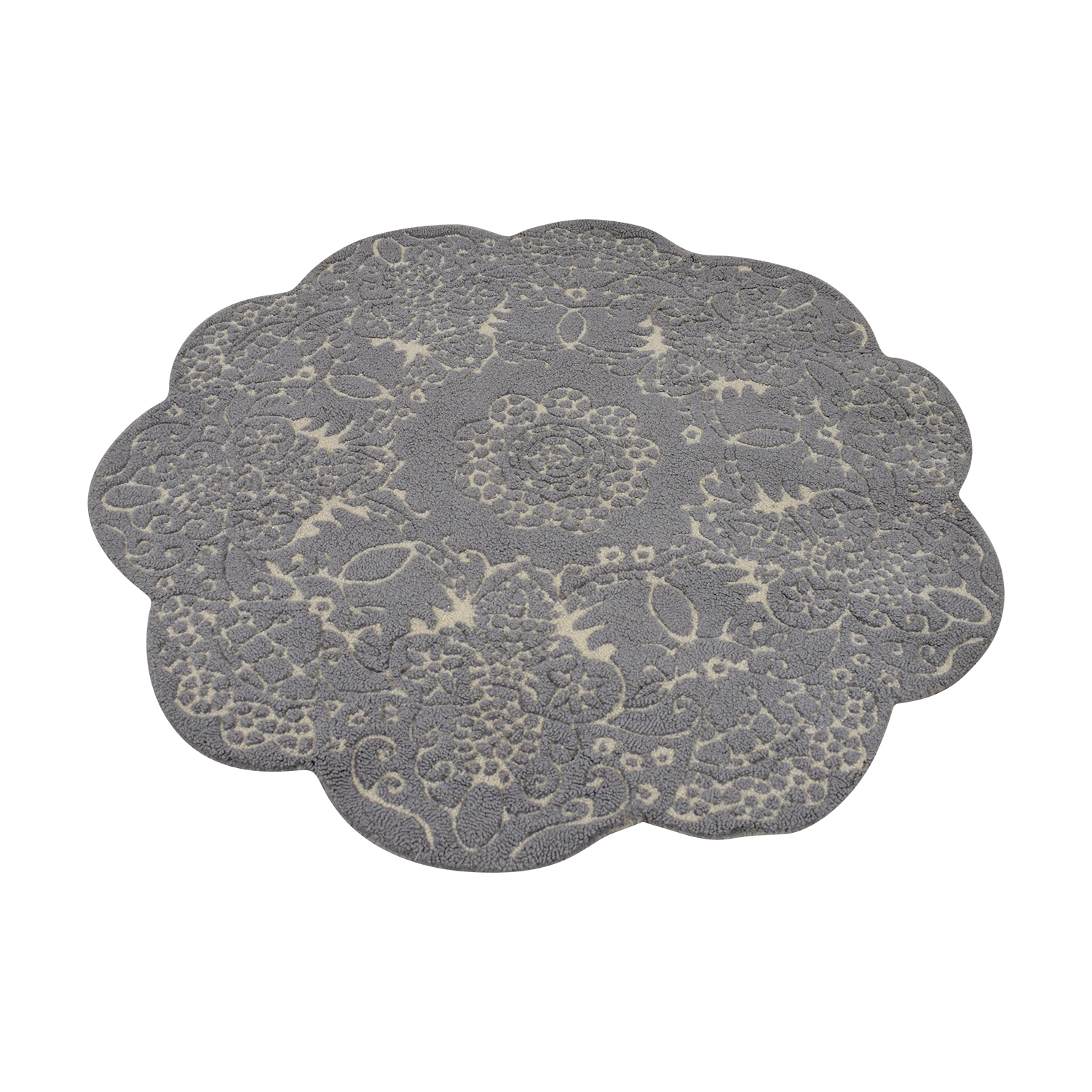 Anthropologie Anthropologie Doily Round Grey Rug dimensions