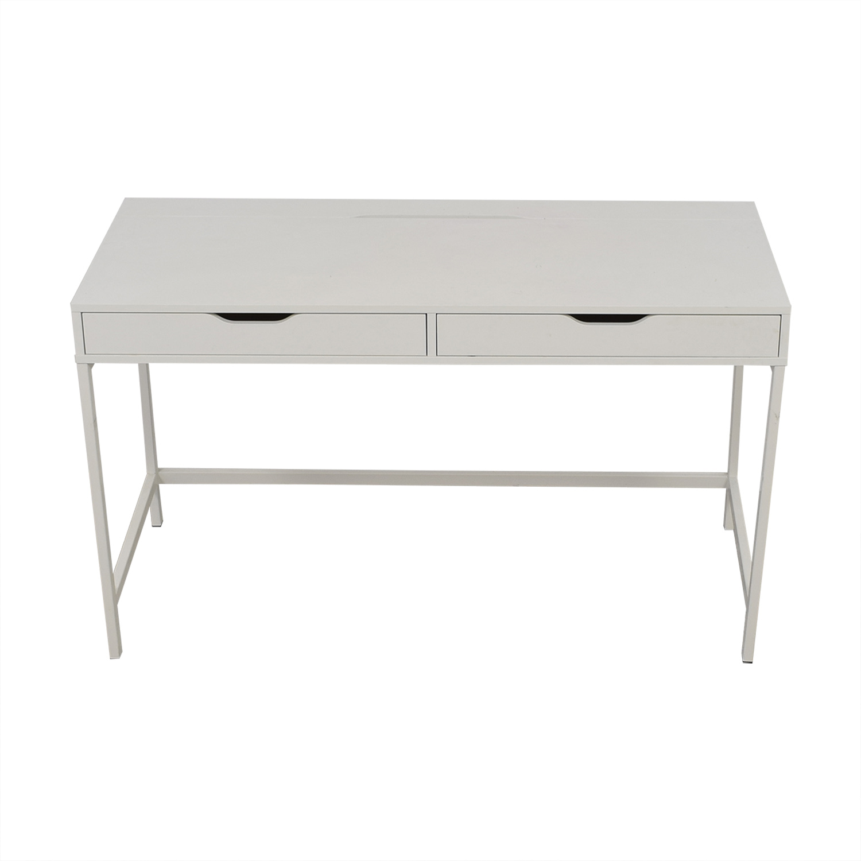 IKEA IKEA Alex White Two Drawer Desk discount