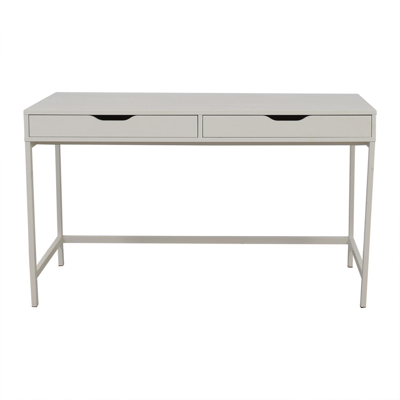 IKEA Alex White Two Drawer Desk / Utility Tables
