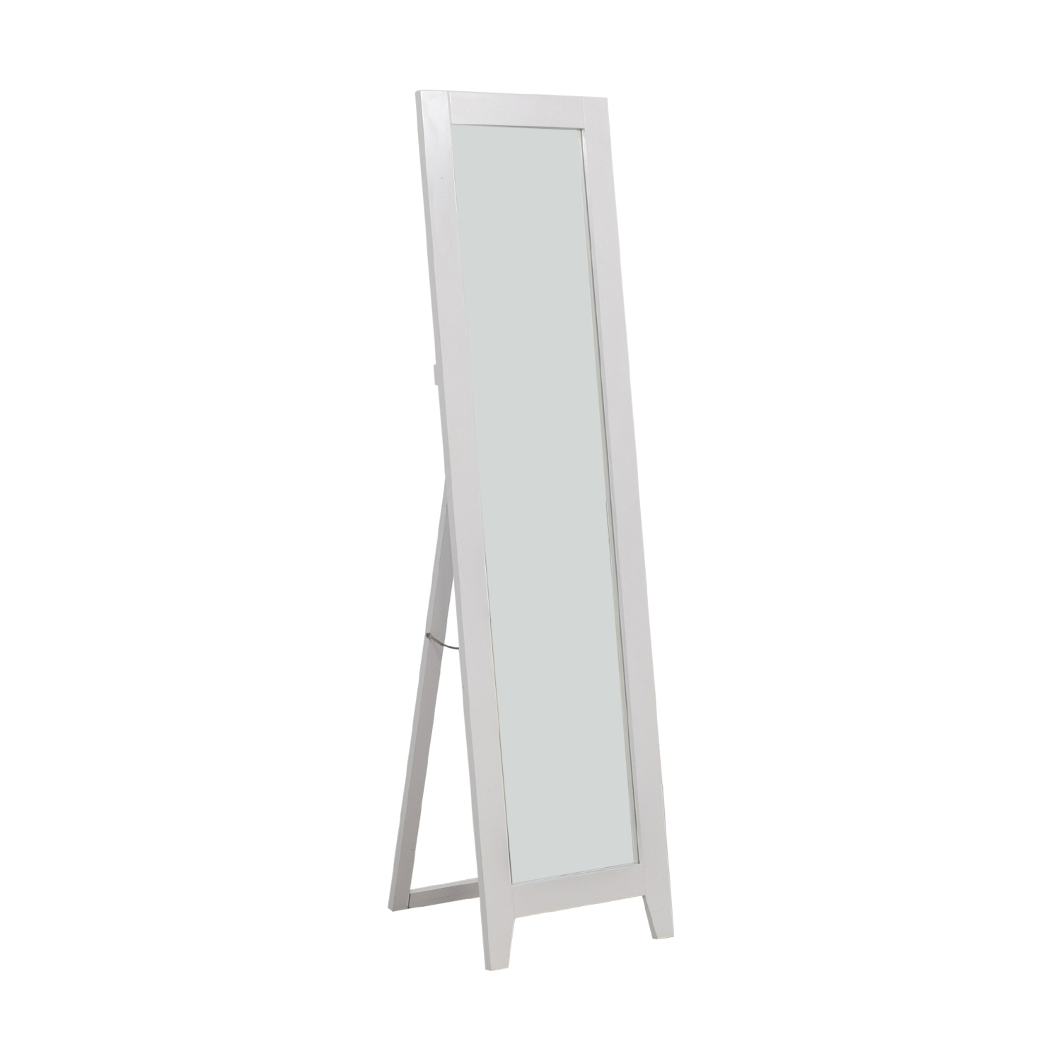 buy King's Brand King's Brand White Wood Framed Floor Mirror online