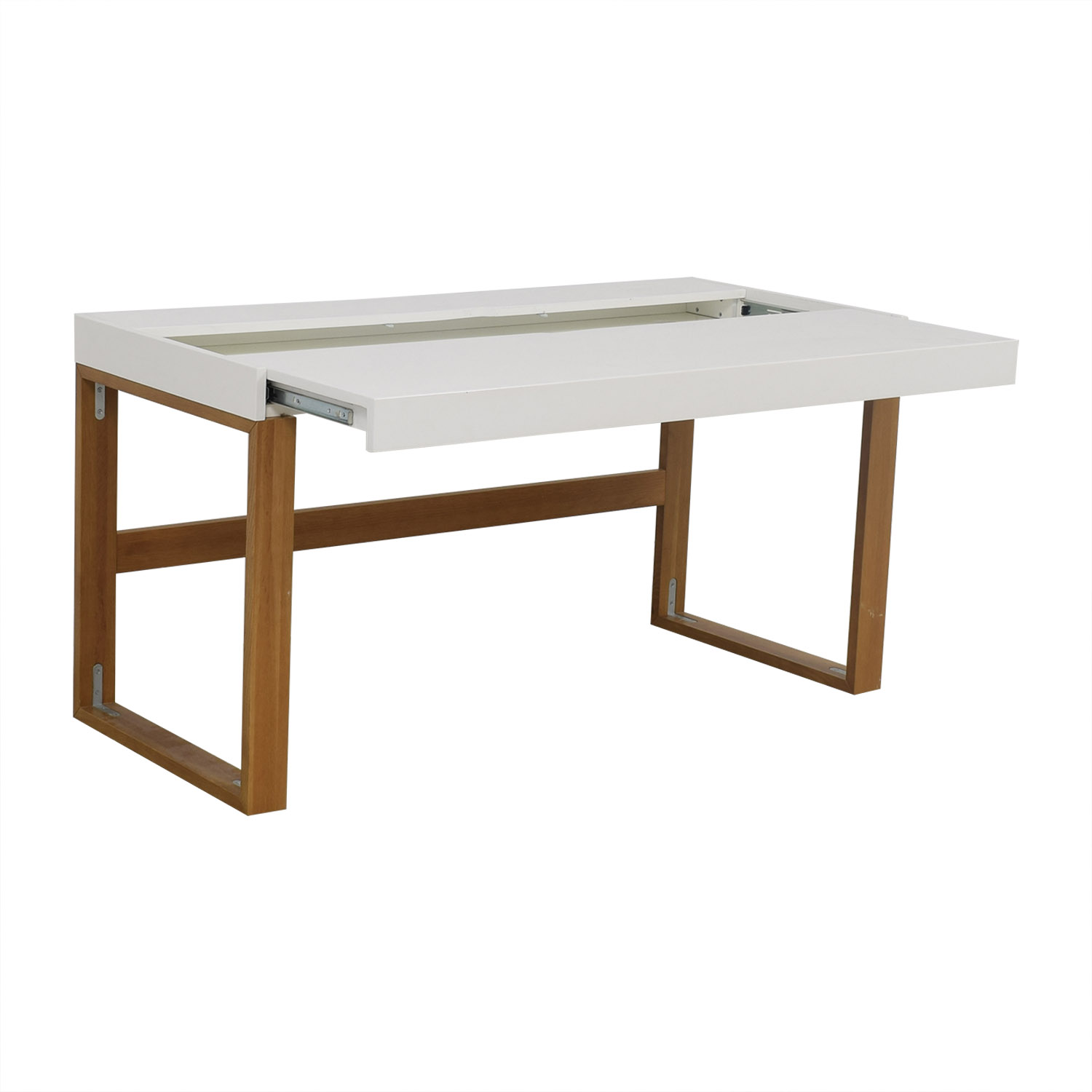 buy CB2 White Chamber Desk CB2 Tables