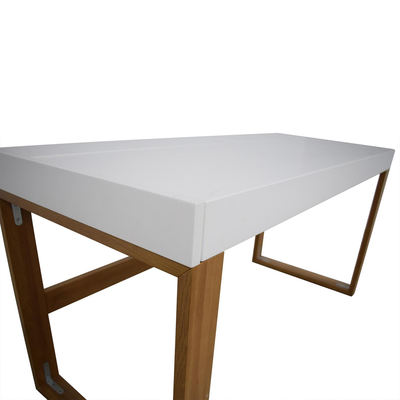shop CB2 CB2 White Chamber Desk online