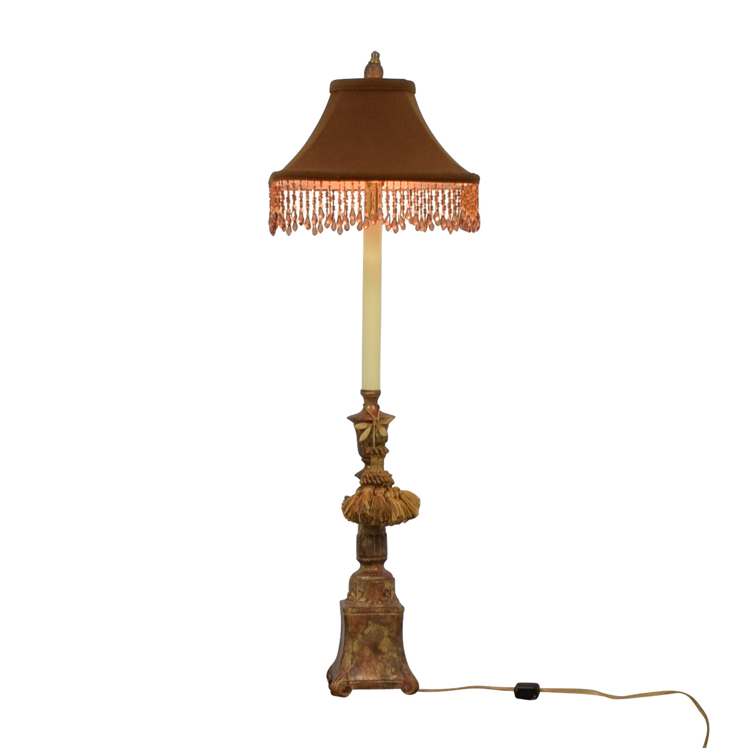 Vintage Brown and Pink Table Lamp dimensions