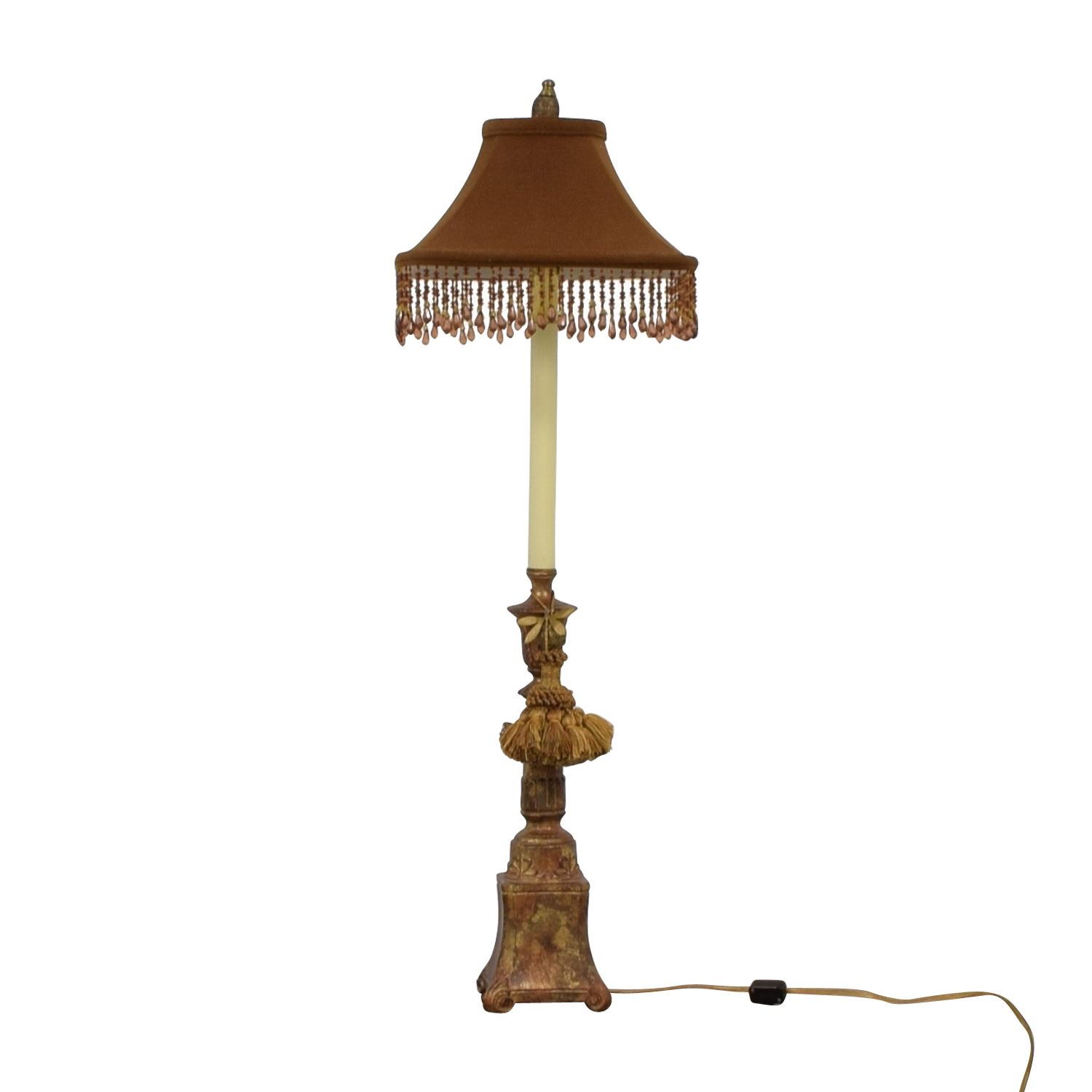 buy Vintage Brown and Pink Table Lamp  Lamps
